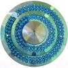 Glitz Sew-on Stone 10pcs Round 45mm Peacock Blue Aurora Borealis